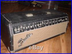 Vintage 1967 Fender BandMaster Blackface Tube Amp QA Date Code UFIX Parts/Repair