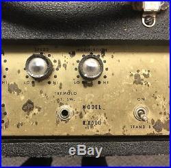 Vintage 1967 Lectrolab R800d 2x12 Tube Guitar Amplifier, Amp, Tremolo