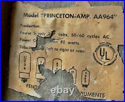 Vintage 1968 Fender Princeton AA964 Drip Edge/Black Line Tube Amp (Non Reverb)