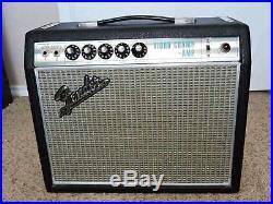 Vintage 1969 Fender Silver Face Vibro Champ Tube Amplifier AA764