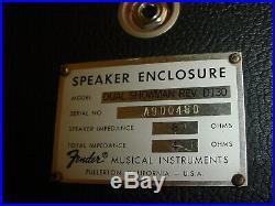 Vintage 1970's Fender Dual Showman Reverb Tube Amp Head & 2x15 D130 Cabinet