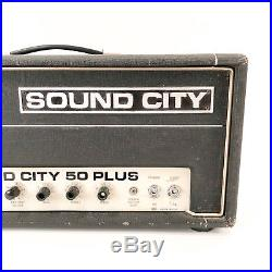 Vintage 1970's Sound City 50 Plus Tube Amplifier Head