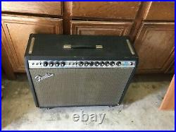 Vintage 1972 Fender Twin Reverb Silverface Electric Guitar Tube Amp GC