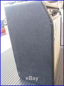 Vintage 1974 Fender Bronco Tube Guitar Amp Silver Face A 36189 USA FREE SHIPPING