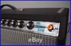 Vintage 1974 Fender Dual Showman Reverb Tube Amp 100 Watts withFootswich Excellent