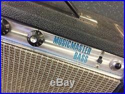 Vintage 1977 Fender Musicmaster Bass Guitar Tube Amp Amplifier