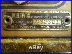 Vintage'53 Multivox Premier Model 50 Tube Guitar Amp Harp Harmonica