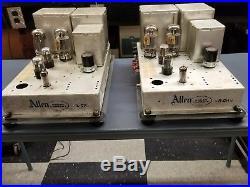 Vintage 60's Allen model#75 mono block industrial tube amplifiers, rebuilt