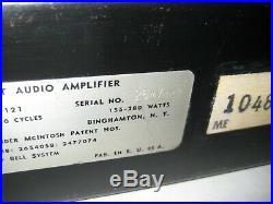 Vintage 60's Mcintosh MC 60, using 12ax7, 12bh7, 6550 tubes or kt88