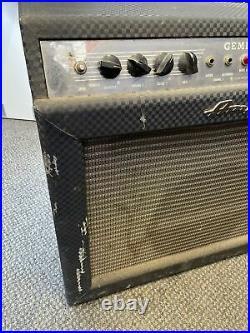 Vintage 60s Ampeg Gemini 1 Two Channel Tube Guitar Amplifier Combo Amp Weber