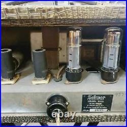 Vintage'60s Selmer TruVoice Bassmaster Fifty Crocodile Skin Valve Tube Amp Head