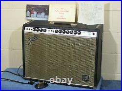 Vintage'69 Fender Twin Reverb Tube Guitar Amp Jbl D120f Blackface Mod Drip Edge