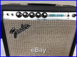 Vintage 78 Fender Vibro Champ Tube Amplifier