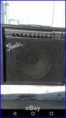 Vintage 90s Fender USA Champ 25 Tube Amp 12 in. Speaker GREAT condition