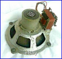 Vintage AlniCo TELEFUNKEN Full Range Speaker 1940's Tube Amp Output Transformer