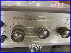 Vintage Ampex 402 Stereo Tube Preamplifier pre amp Super Nice! 12ax7