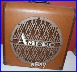 Vintage Ampro Magnavox 12 speaker box great for guitar tube amp/amplifier WORKS