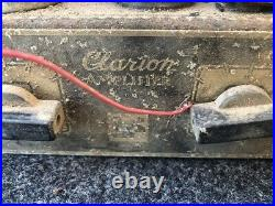 Vintage Antique Clarion Tube Amplifier, Untested, For Parts Only