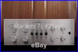 Vintage Audio Marantz 7 7c #21xxx tube Pre Amplifier Free worldwide shipping