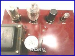 Vintage BIG SOUND Rebuilt CHALLENGER 4 TUBE POWER AMP -Guitar BASS harp PA