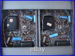 Vintage Bogen MO-100a mono block amplifiers 8417 tubes
