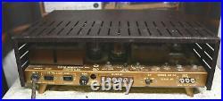 Vintage Bogen tube integrated amplifier model DB130 with gold slant legs