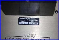 Vintage Conrad-Johnson MV-50 Vacuum Tube Amplifier 45 watts per channel Works