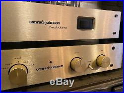 Vintage Conrad Johnson Premier Eleven Tube Amplifier and PV12a Preamp hifi