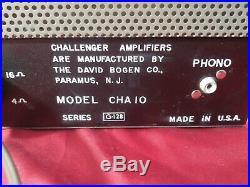 Vintage David Bogen challenger model cha- 10 Tube Amp