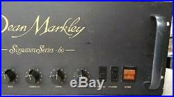Vintage Dean Markley Signature Series 60 tube amp serviced T60 amplifier USA