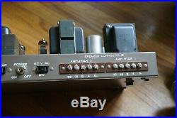 Vintage EICO HF 86 with SAMS All Mullard Tubes, Original Eico label, Rare Amp