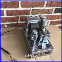 Vintage E. H. Scott mono 2A3 Tube Amplifier Chome