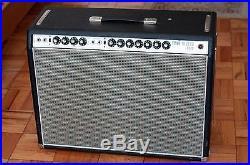 Vintage Fender 1968 Custom Twin Reverb Tube Combo Amp Silverface