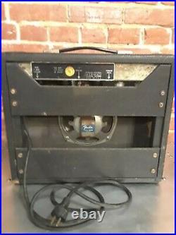 Vintage Fender Bronco Tweed Tube Amp 6 Watt Guitar Amplifier Rare Powers On Work