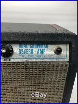 Vintage Fender Dual Showman Reverb Tube Amp Head Silverfacetfl5000d