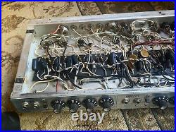 Vintage Fender Silverface Twin Reverb Tube Amp Chassis Project /Restoration