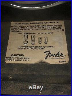 Vintage Fender Vibro Champ Tube Amp 1968