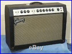 Vintage Gibson Ga-35 Rvt Lancer Electric Guitar Amplifier Tube Amp, Serviced Org