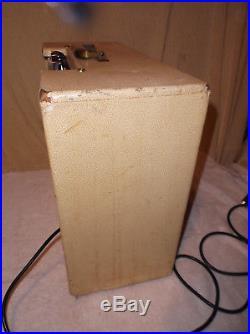 Vintage Gibson Gibsonette Tremolo Tube Guitar Amp Amplifier w Pedal #1 GA-8T