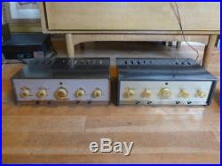 Vintage Grommes 10PG Tube Amplifiers Mono Amp Stereo Pair 10-PG, RARE