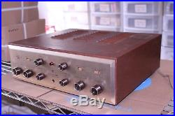 Vintage HH Scott 222c Stereo Tube Amplifier With Cover & Manual Telefunkens