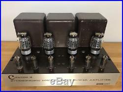 Vintage Harman Kardon Citation 2 II Tube Amp In Good Condition