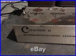 Vintage Harman Kardon Citation II Stereo Vacuum Tube Amplifier