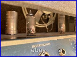 Vintage Harmony Model H303A. Guitar Amp Amplifier Turns On, Tubes Glow