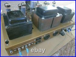 Vintage Heathkit AA 30 Stereo 6BQ5 Power Tube Amp Chassis Rare