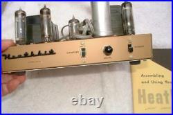 Vintage Heathkit Amplifier Tube Amp 14 WATT MODEL UA-2 With booklet