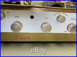 Vintage Lafayette LA-55 Tube Amplifier EL-84 Hi-Fi Amp for repair