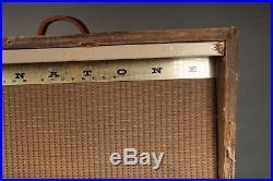 Vintage Magnatone Custom 280 High Fidelity Stereo Guitar Combo Tube Amp Antique