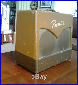 Vintage Multivox Premier Twin-8 Harmonica Tube Amplifier Harp Amp Guitar