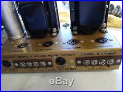 Vintage PILOT SA-232, STEREO HI-FI AMPLIFIER Tubes, Bugle Boy, Telefunken